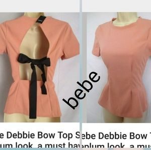 New With Tags bebeDebbie Bow Top   Brunch-perfe